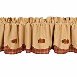 3 Fall Pumpkins Fairfield Valance