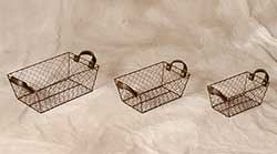 Chicken Wire Baskets - Nesting Set of 3