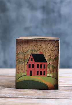 Saltbox House Tissue Box Cover
