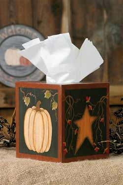 Pumpkin and Star Tissue Box