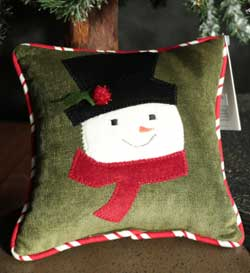 Musical Snowman Pillow