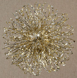 Glittered Loop Ball Ornament