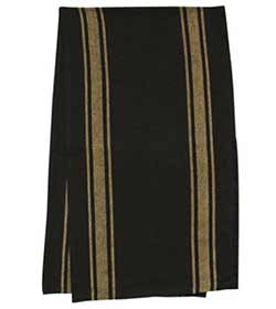 Black Tan Striped 56 inch Table Runner