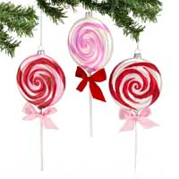 Glass Lollipop Ornament