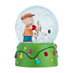 Charlie Brown Tree Water Globe