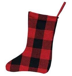 Buffalo Check Christmas Stocking