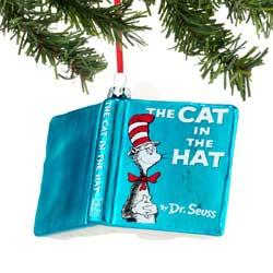 Cat in the Hat Book Ornament