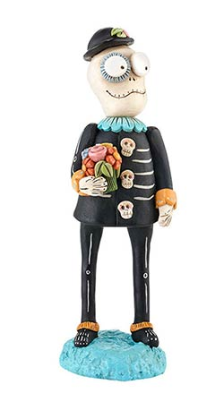 Day of the Dead Male Skelly Figure