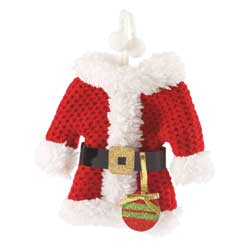 Santa Suit Ornament/Card Holder