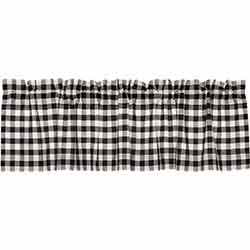 VHC Brands Annie Buffalo Black Check Valance (60 inch)