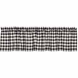 VHC Brands Annie Buffalo Black Check Valance (72 inch)