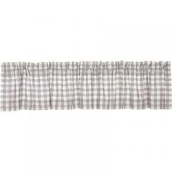 VHC Brands Annie Buffalo Grey Check Valance (90 inch)