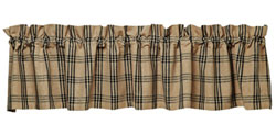 Cottonwood Black Plaid Valance