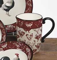 Country Rooster Pitcher