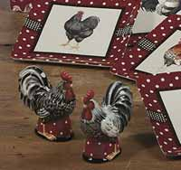 Country Rooster Salt / Pepper Shaker Set