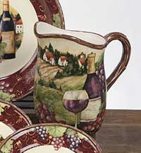 Merlot Sunset Dinnerware - Pitcher