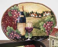 Merlot Sunset Dinnerware - Oval Platter