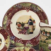Merlot Sunset Dinnerware - Serving Bowl