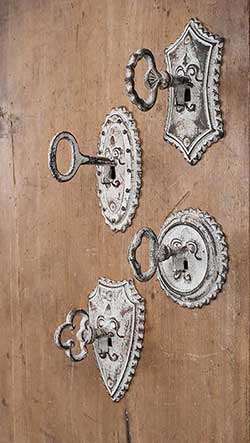 Vintage Key Hooks (Set of 4)