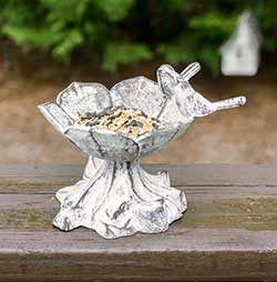 Birds & Daisy Cast Iron Bird Feeder