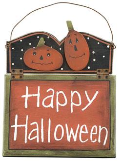 Happy Halloween Jacks Hinged Sign