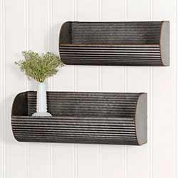 Corrugated Wall Caddies (Set of 2)