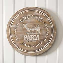 Organic Farm Lazy Susan with Cow