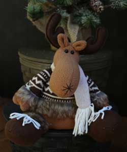 Furry Moose Figure
