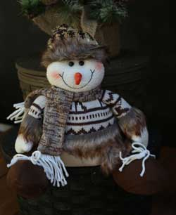 Furry Snowman Figure