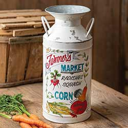 Farmer's Market Milk Can