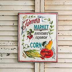 Farmer's Market Enamel Sign