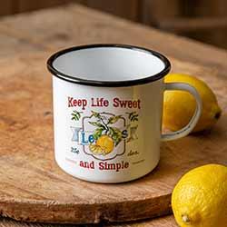Lemons Enamelware Mug
