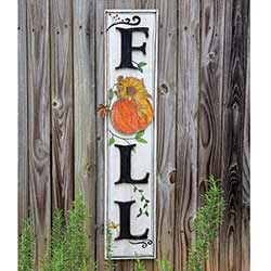 Fall Vertical Wall Sign