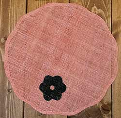 Camille Jute Placemat - Coral