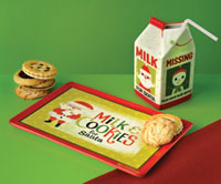 Milk Carton and Cookie Plate Set
