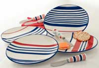 TAG Hampton Stripe Appetizer Plate
