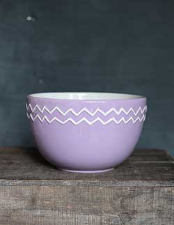 Lilac Zig Zag Mixing / Serving Bowl