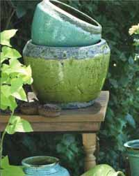 Rustic Terra Cotta Pot, Small (Aqua)