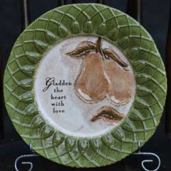 Indian Summer Accent Plate - Pears