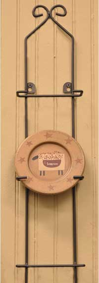 The Hearthside Collection Small Vertical Medium 3-Plate Rack
