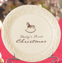 Baby's 1st Christmas Dessert Plate