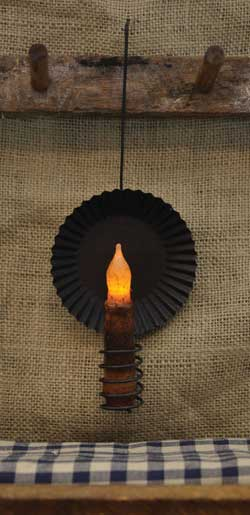 Cupboard Pie Pan Candle Holder - Small