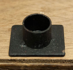 Single Simple Iron Taper Holder (2 inch)
