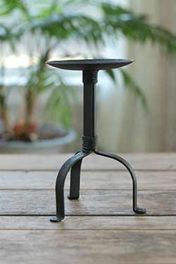 Iron Pillar Candle Holder - 8 inch