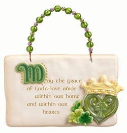 So Lucky Plaque with Heart and Crown