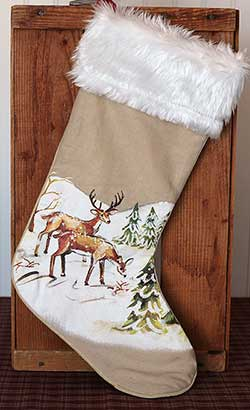 Winter Wilderness Stocking with Deer