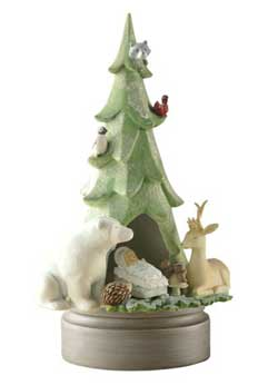 Gifts of Glory Musical Tree Figure