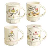 Patisserie Mug with Coaster Set