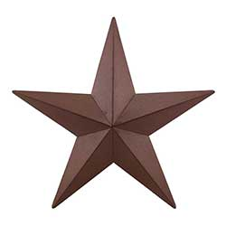 Burgundy Barn Star, 18 inch
