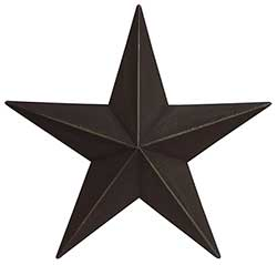 Primitive Wall Star, 12 inch - Black